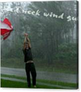 Red Neck Wind Guage Canvas Print