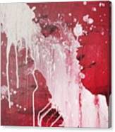 Red Number Seven Canvas Print