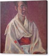 Red Obi Canvas Print