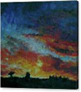 Red Orange Evening Canvas Print