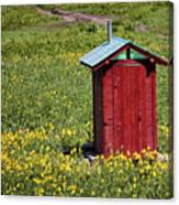 Red Outhouse 3 Canvas Print