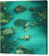 Red Outrigger Canoe Canvas Print