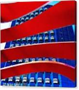Red Over Blue Canvas Print