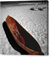 Red Paddle Boat Playa Del Carmen Canvas Print
