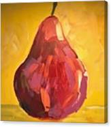 Red Pear Canvas Print