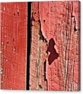 Red Peeling Paint- Fine Art Canvas Print