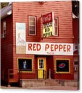 Red Pepper Restaurant Canvas Print