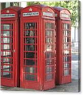 Red Phone Boxes. Canvas Print