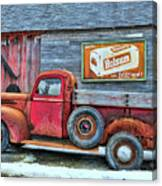 Red Pick Up Canvas Print