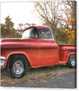 Red Pick-up Canvas Print