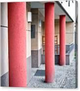 Red Pillars Canvas Print