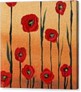 Red Poppies Decorative Art Canvas Print