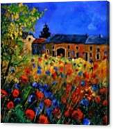 Red Poppies In Houroy Canvas Print