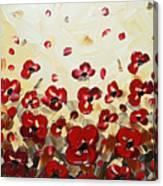 Red Poppy Dance Canvas Print