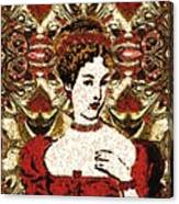 Red Queen Baroque Canvas Print