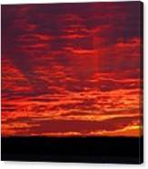 Red Ray Sunset Canvas Print
