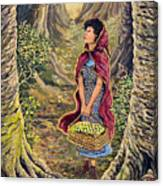 Red Riding Hood On The Path To Grama's House Canvas Print