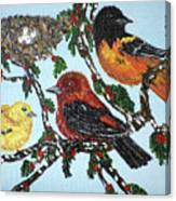 Red Robins Canvas Print