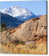 Red Rock And Pikes Peak Canvas Print