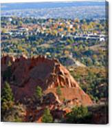 Red Rock Canyon Rock Quarry And Colorado Springs Canvas Print