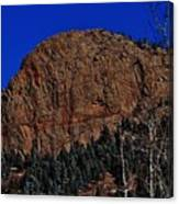 Red Rock Cliff Canvas Print