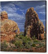 Red Rock Formations On A Desert Plateau In Utah Canvas Print