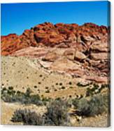 Red Rock Mountain Canvas Print