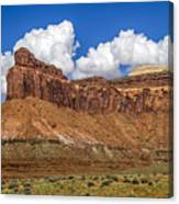 Red Rock Rampart Canvas Print