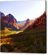 Red Rock Rays Canvas Print