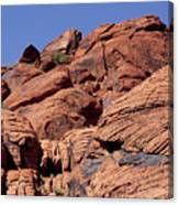 Red Rock Texture Canvas Print