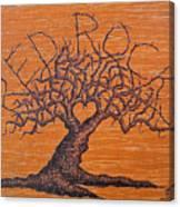 Red Rocks Love Tree Canvas Print