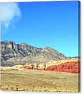 Red Rocks Nevada Panorama Canvas Print