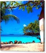 Red Roofed Bungalow Canvas Print