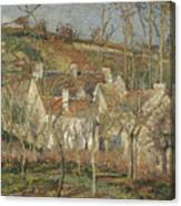 Red Roofs, Corner Of A Village, Winter Canvas Print