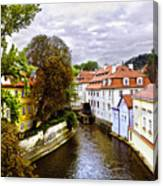 Red Roofs Of Prague - 2015 Canvas Print