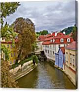 Red Roofs Of Prague Canvas Print