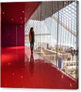 Red Room Views At The Seattle Central Library Canvas Print