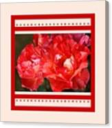 Red Rose With A Whisper Of Yellow And Design Canvas Print