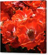 Red Roses Botanical Landscape 1 Red Rose Giclee Prints Baslee Troutman Canvas Print