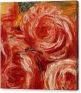 Red Roses Pierre-auguste Renoir Canvas Print