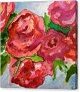 Red Roses, Red Roses Canvas Print