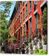 Red Row Houses Canvas Print