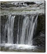 Red Run Waterfall Canvas Print