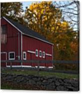 Red Rustic Barn Canvas Print