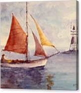 Red Sail... Canvas Print