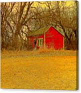 Red Shack Canvas Print