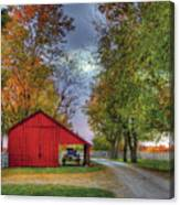 Red Shaker Carriage Barn Canvas Print