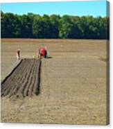 Red Shirt Red Tractor  Canvas Print