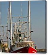 Red Shrimp Boat Canvas Print