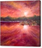 Red Skies At Night Canvas Print